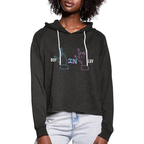 Boy In With Love Color V&JK - Women's Cropped Hoodie