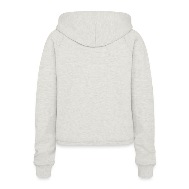 simple woman cats - Frauen Cropped Hoodie