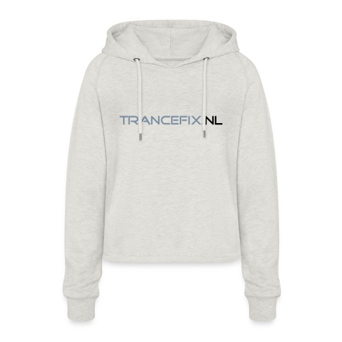 trancefix text - Women's Cropped Hoodie