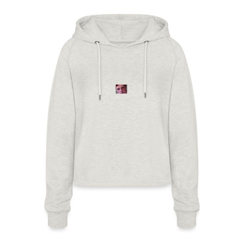 My friends confused AF face - Women's Cropped Hoodie
