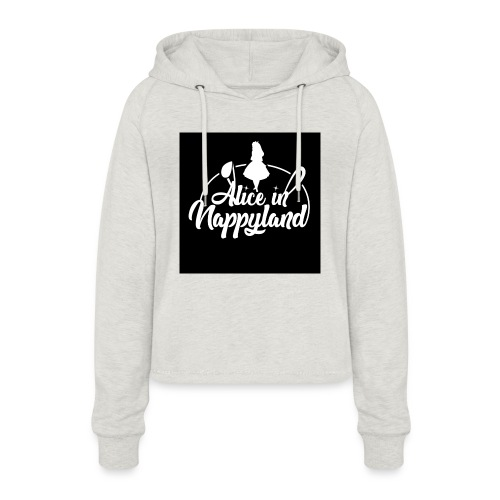 Alice in Nappyland TypographyWhite 1080 - Women's Cropped Hoodie