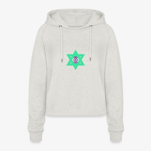 Star eye - Women's Cropped Hoodie