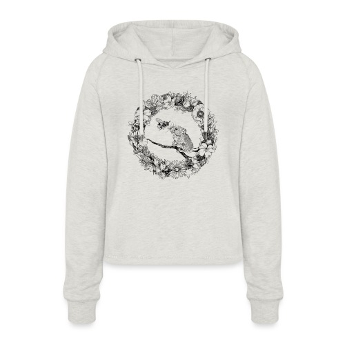 The mouse and the bumblebee - Women's Cropped Hoodie