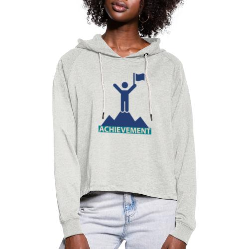 Typo Achivement by CloudMonde - Women's Cropped Hoodie