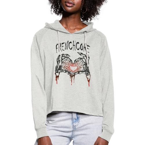 Frenchcore Heart 02 - Frauen Cropped Hoodie
