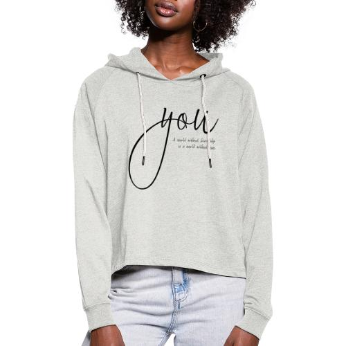 you - Frauen Cropped Hoodie