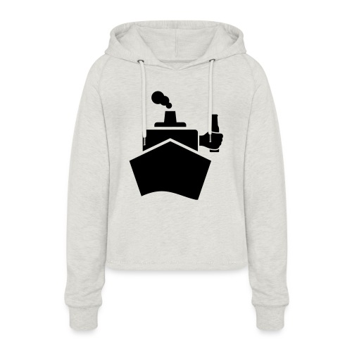 King of the boat - Frauen Cropped Hoodie