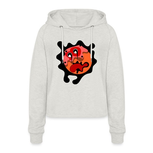 scary cartoon - Vrouwen Cropped Hoodie