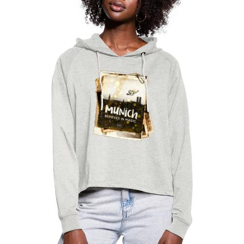 Munich believes frame - Frauen Cropped Hoodie