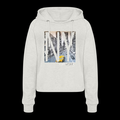 TIME SQUARE - Frauen Cropped Hoodie