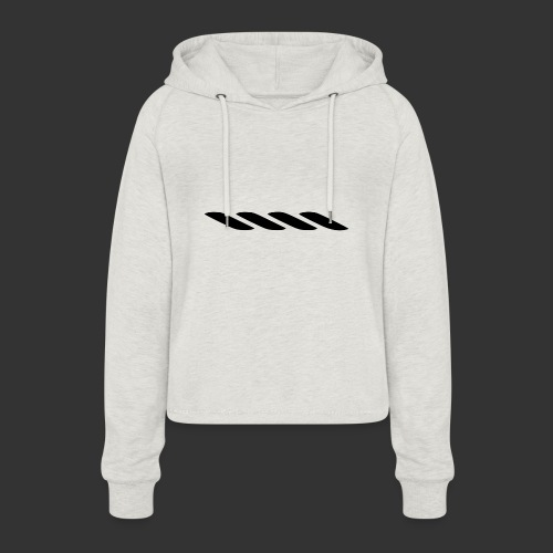Rope With Bite Logo - Women's Cropped Hoodie