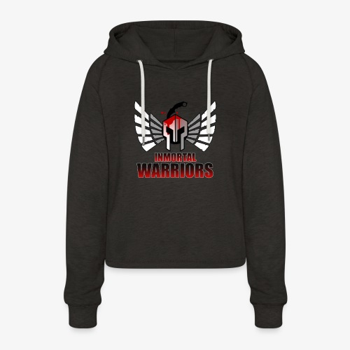 The Inmortal Warriors Team - Women's Cropped Hoodie