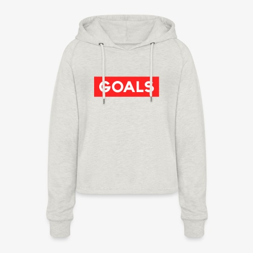 GOALS SQUARE BOX - Women's Cropped Hoodie