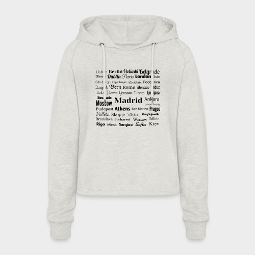 European capitals - Women's Cropped Hoodie