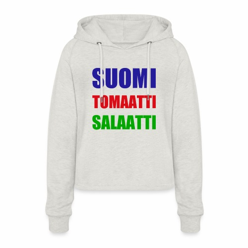 SUOMI SALAATTI tomater - Cropped Hoodie for kvinner