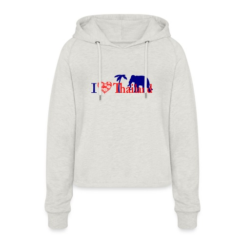 I love Thailand - Women's Cropped Hoodie