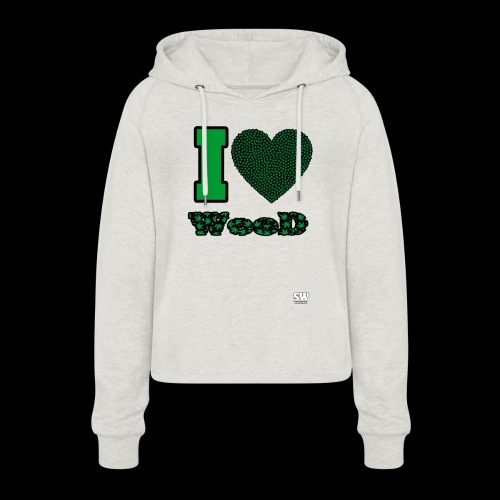 I Love weed - Sweat à capuche court Femme