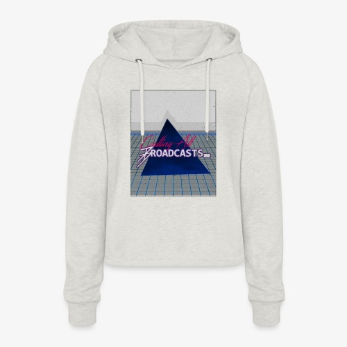 80s Distressed Design - Women's Cropped Hoodie