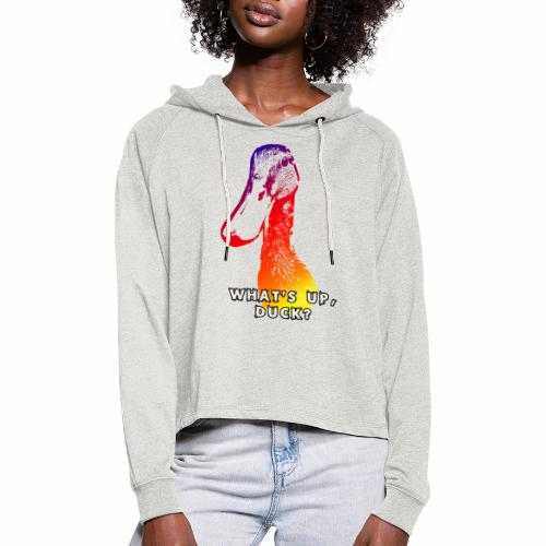 what's up duck - Color - Women's Cropped Hoodie