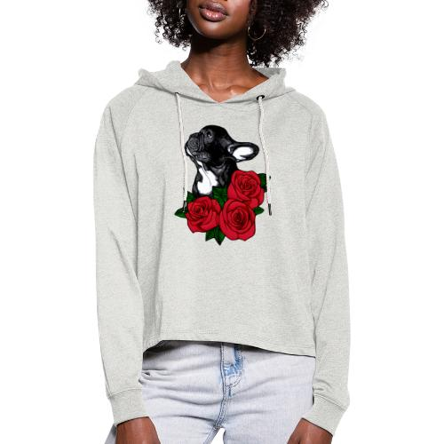 The French Bulldog Is So Famous - Women's Cropped Hoodie