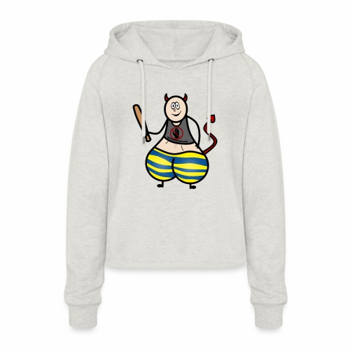 Devil No Touchies Charlie - Women's Cropped Hoodie