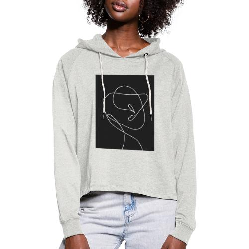 TWO IN ONE - Frauen Cropped Hoodie