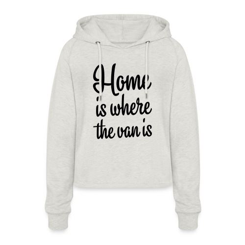 camperhome01b - Cropped Hoodie for kvinner