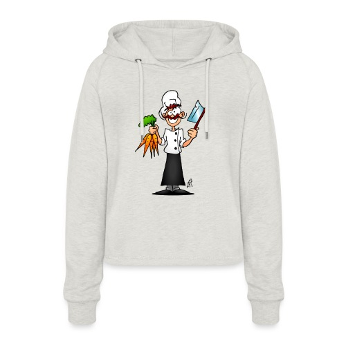 The vegetarian chef - Women's Cropped Hoodie