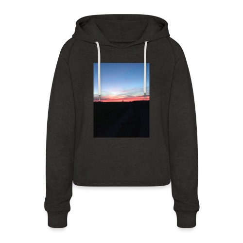 late night cycle - Women's Cropped Hoodie