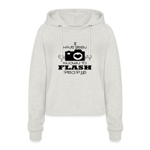 Photographer - Women's Cropped Hoodie