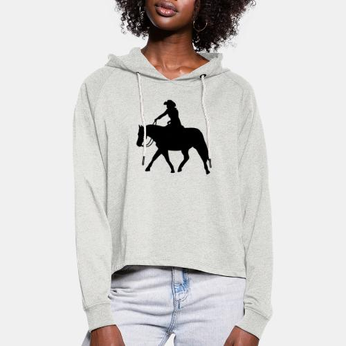 Ranch Riding extendet Trot - Frauen Cropped Hoodie