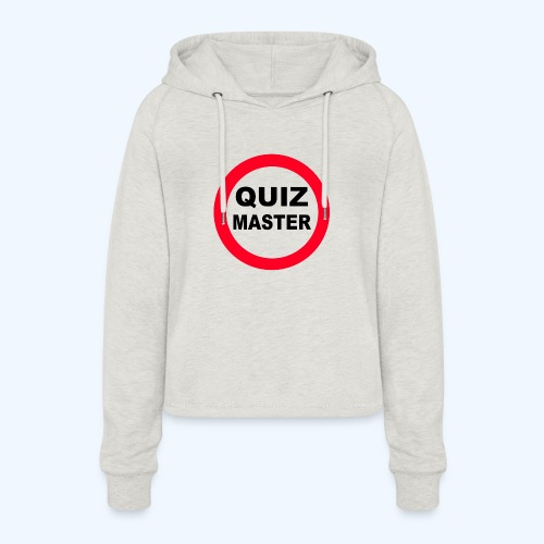 Quiz Master Stop Sign - Women's Cropped Hoodie