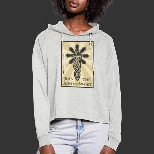 Join the army jpg - Women's Cropped Hoodie