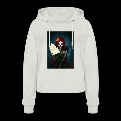 Death and lillies - Women's Cropped Hoodie
