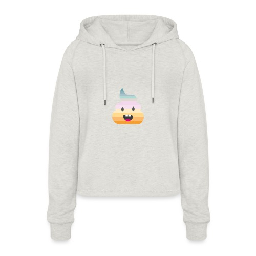 The Real Shit - Frauen Cropped Hoodie