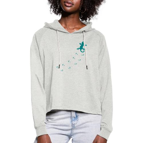 Messy Lizard Paws - Women's Cropped Hoodie