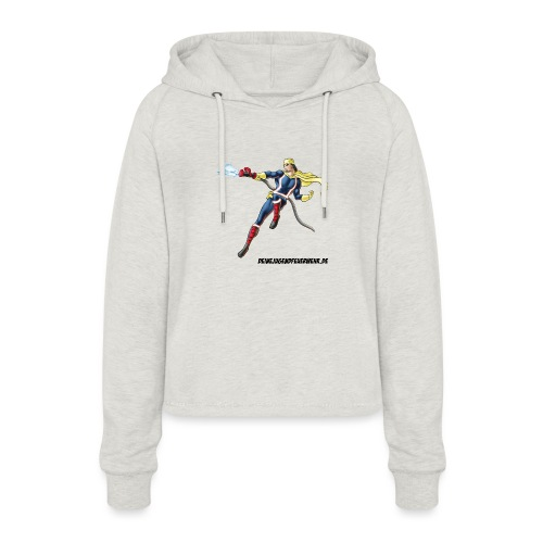 Captain Firefighter - Frauen Cropped Hoodie
