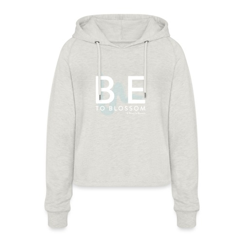 be to blossom swoosh (white) - Women's Cropped Hoodie