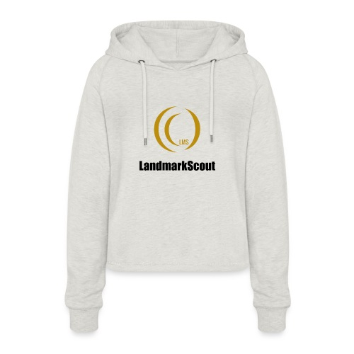 Tshirt Yellow Front logo 2013 png - Women's Cropped Hoodie