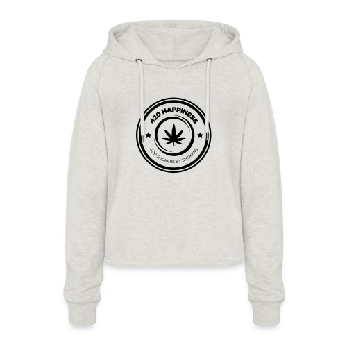 420_Happiness_logo - Cropped hoodie til damer