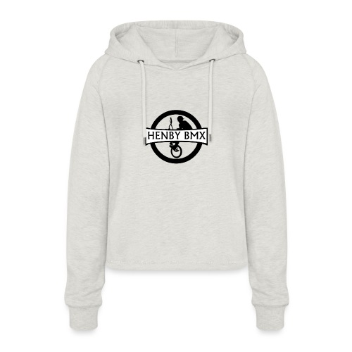 Plain Man's T-Shirt (Official HenbyBMX Logo) - Women's Cropped Hoodie