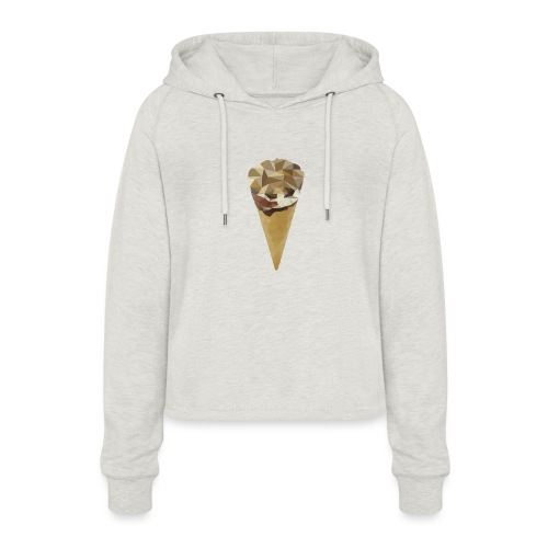 Low-poly_Ice_Cream - Vrouwen Cropped Hoodie
