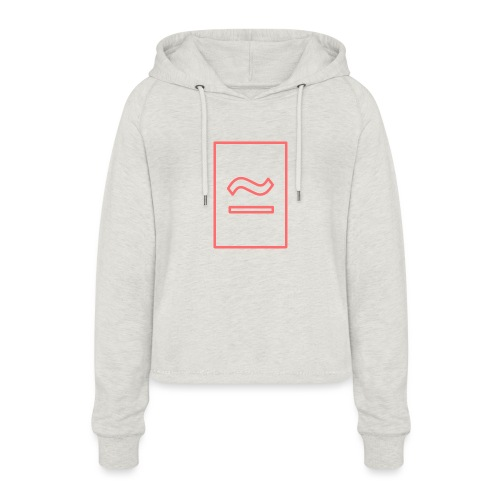 The Commercial Logo (Salmon Outline) - Women's Cropped Hoodie