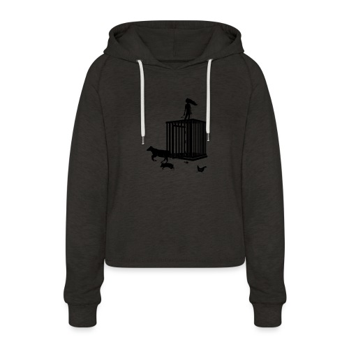 Strong Woman - Cropped hoodie til damer