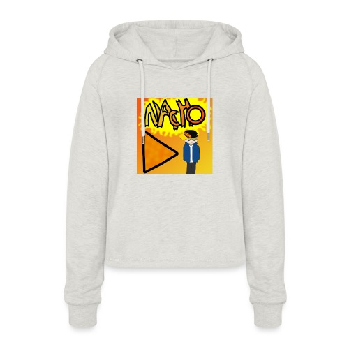 Nacho Title with Little guy - Women's Cropped Hoodie