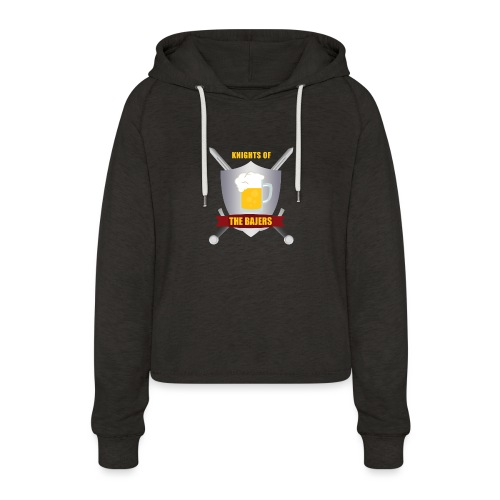 Knights of The Bajers - Cropped hoodie til damer