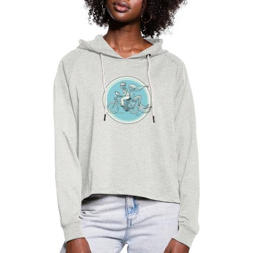 To the Beach - Backround - Frauen Cropped Hoodie