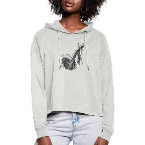 MUSIC NOTE ABSTRACT - Frauen Cropped Hoodie