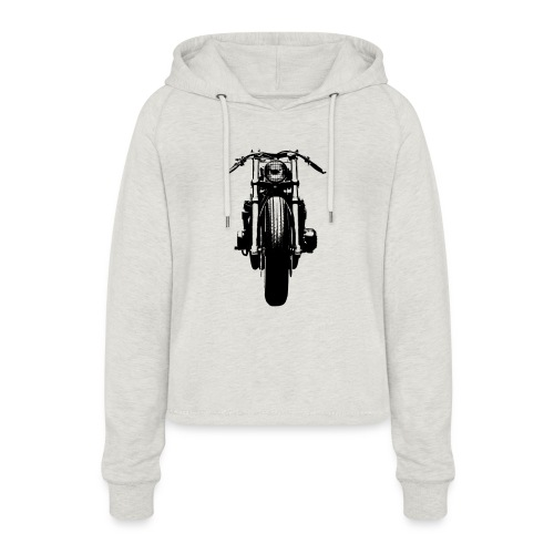 Motorcycle Front - Women's Cropped Hoodie