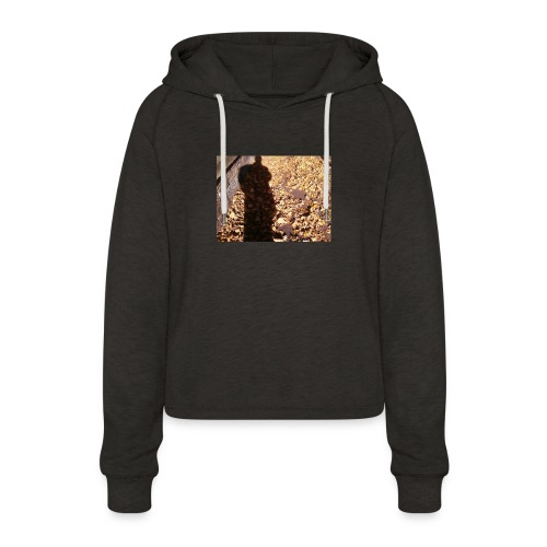 THE GREEN MAN IS MADE OF AUTUMN LEAVES - Women's Cropped Hoodie